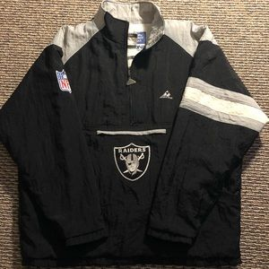 Other - Men's XL vintage 1/4 zip Raiders pullover